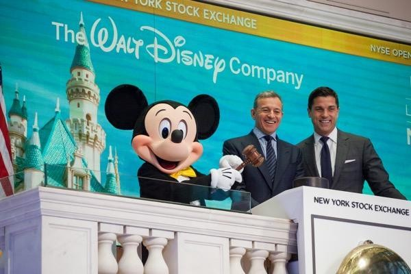 Disney stock rockets to record high