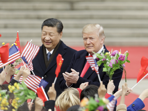 USa china flags